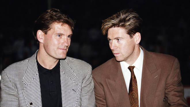 Glenn Hoddle and Chris Waddle