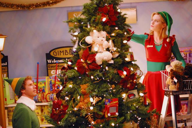 Will Ferrell and Zooey Deschanel in Elf (2003)