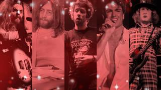 Roy Wood, John Lennon, Shane MacGowan, George Michael and Noddy Holder of Slade