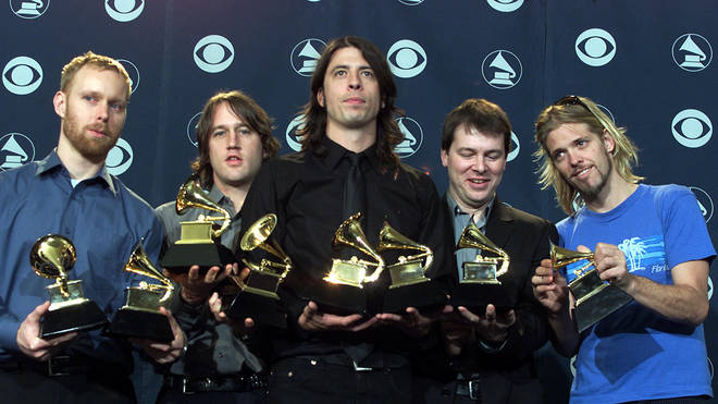 Foo Fighters at The GRAMMYs in 2001