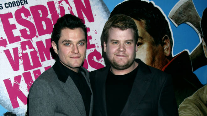 Mathew Horne and James Corden arrive for the gala premiere of Lesbian Vampire Killers