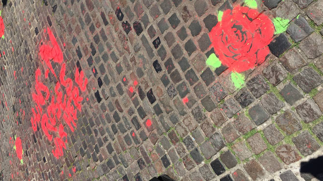 Guns N' Roses graffiti spotted at Camden Stables