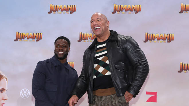 "Kevin Hart and Dwayne Johnson at the Jumanji: The Next Level"" Premiere In Berlin"