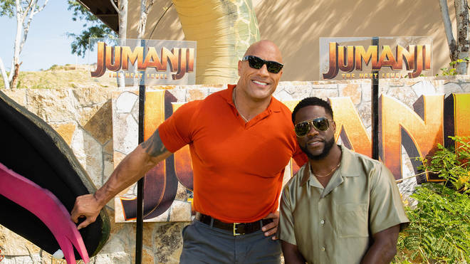 Dwayne Johnson and Kevin Hart at the Jumanji: The Next Level - International Junket