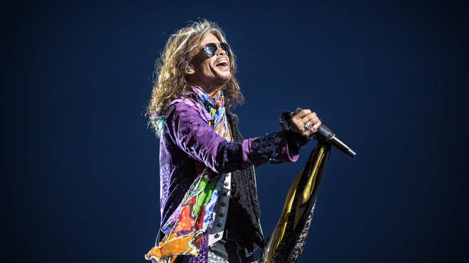 Steven Tyler of Aerosmith on stage in 2017