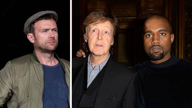 Damon Albarn, Paul McCartney and Kanye West