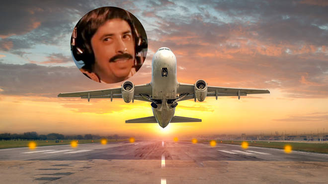 Dave Grohl flying an aeroplane