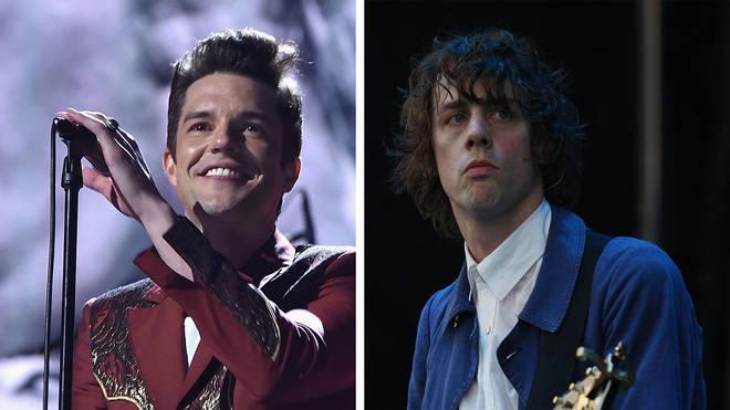 The Killers' Brandon Flowers and Razorlight's Johnny Borrell