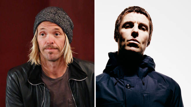 Taylor Hawkins and Liam Gallagher