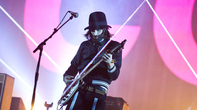 Kasabian performing at Glastonbury Festival, 2014