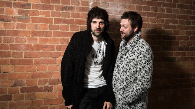 Serge Pizzorno and Tom Meighan of Kasabian in May 2017