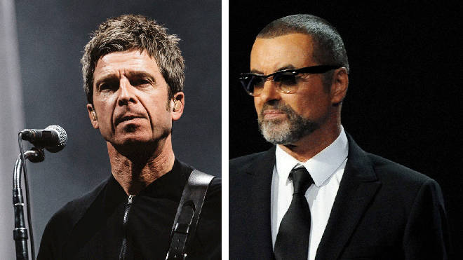 Noel Gallagher and George Michael