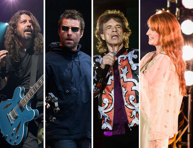 Dave Grohl, Liam Gallagher, Mick Jagger & Florence Welch
