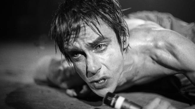 Iggy Pop performs live in New York, 1977