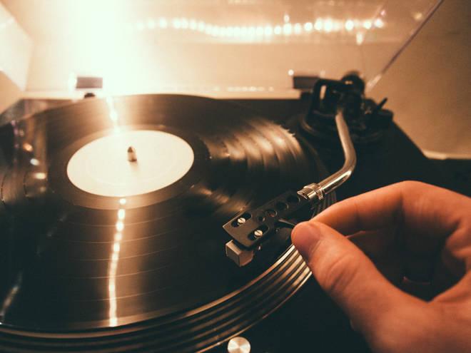 Vinyl on turntable