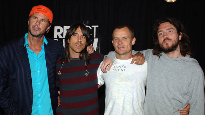 Chad Smith, Anthony Kiedis, Flea and John Frusciante of the Red Hot Chili Peppers