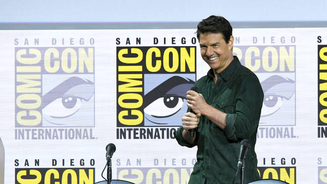 """Tom Cruise makes a surprise appearance to discuss """"Top Gun: Maverick"""" during 2019 Comic-Con International at San Diego Convention Center"""