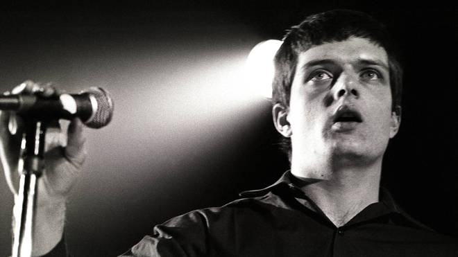 Ian Curtis performing live onstage at the Lantaren, January 1979