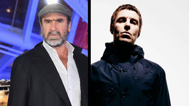 Eric Cantona and Liam Gallagher