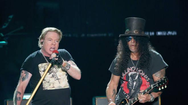 Guns N' Roses Axl Rose and Slash at ACL Music Festival 2019