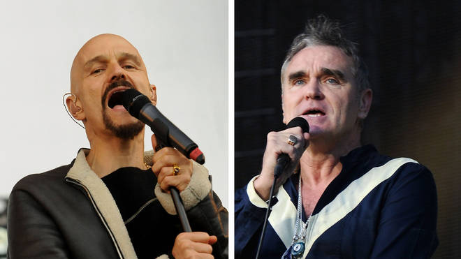 James frontman Tim Booth and Morrissey