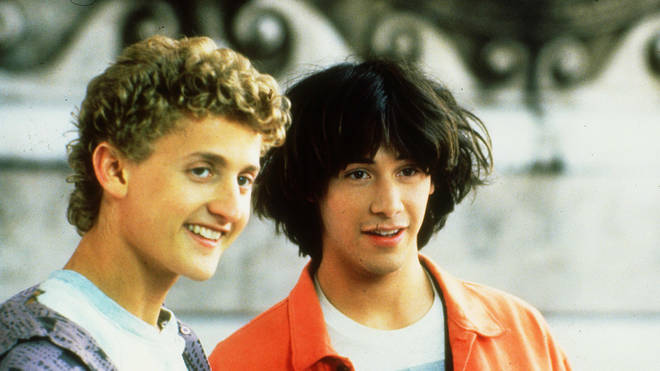 Alex Winter and Keanu Reeves in Bill & Ted's Excellent Adventure, 1989
