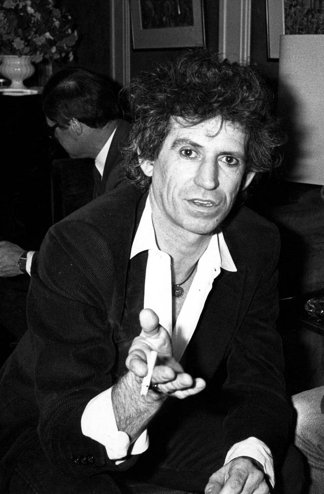 Keith Richards in Paris in 1986
