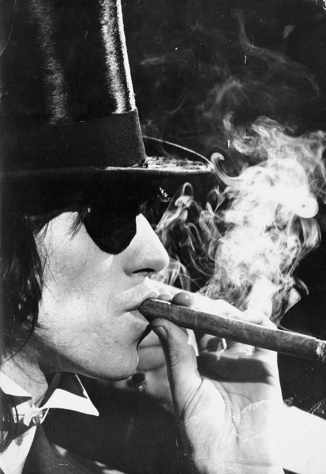 Keith Richards during the making of The Rolling Stones' Rock 'N' Roll Circus, 1968
