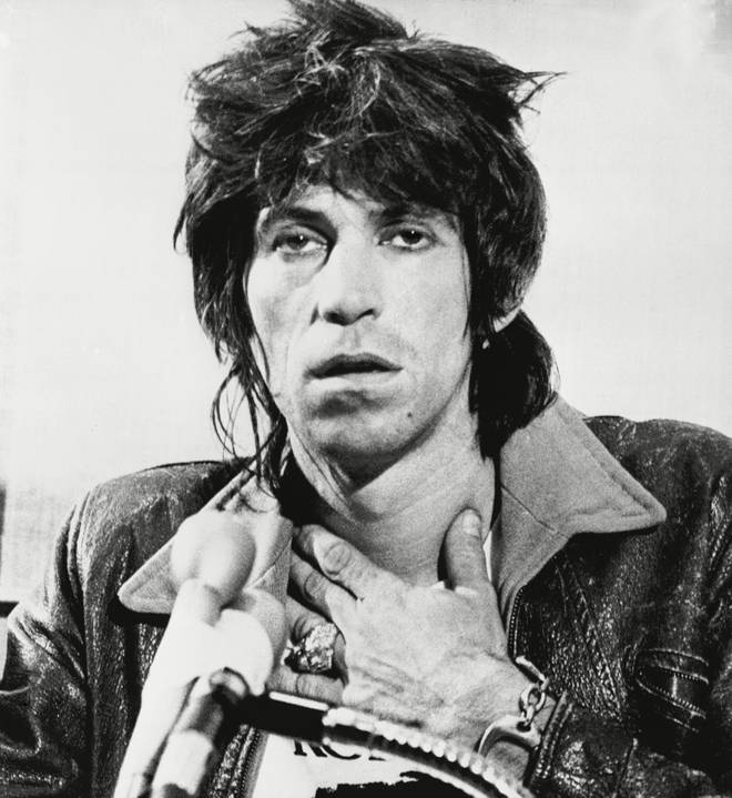 Keith Richards, following his arrest in Toronto in 1977
