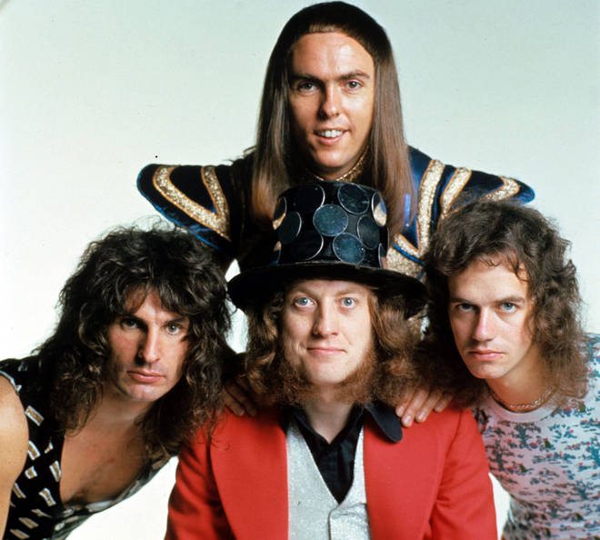 Slade in 1973: Noddy Holder, Dave Hill, Jimmy Lea and Don Powell