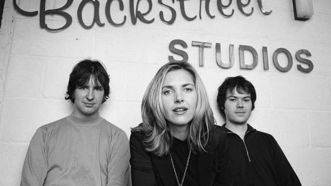 Saint Etienne in 1993: Bob Stanley, Sarah Cracknell and Pete Wiggs