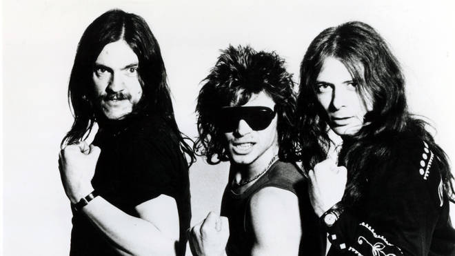 Lemmy, Phil Taylor and Eddie Clarke in 1980