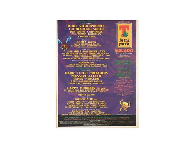T In The Park poster 1999