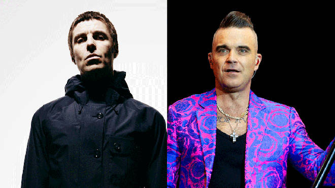 Liam Gallagher and Robbie Williams