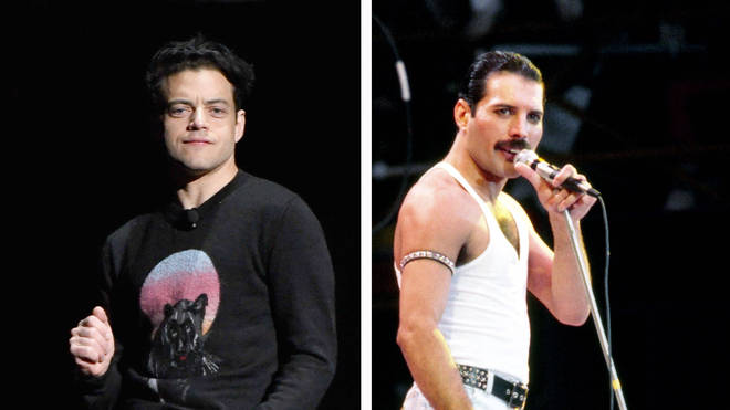 Rami Malek and Freddie Mercury
