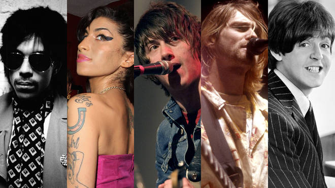 Prince, Amy Winehouse, Alex Turner, Kurt Cobain and Paul McCartney