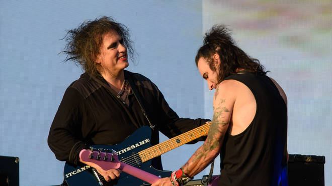 The Cure's Robert Smith and Simon Gallup at British Summer Time, Hyde Park