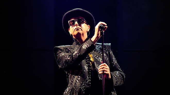 Neil Tennant of Pet Shop Boys performs on stage at Glastonbury on June 26, 2010