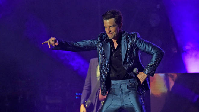 Brandon Flowers of The Killers performs during Forecastle Music Festival at Louisville Waterfront Park on July 13, 2019