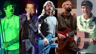 Anthony Kiedis, Brandon Flowers, Dave Grohl, Liam Fray and Gerry Cinnamon