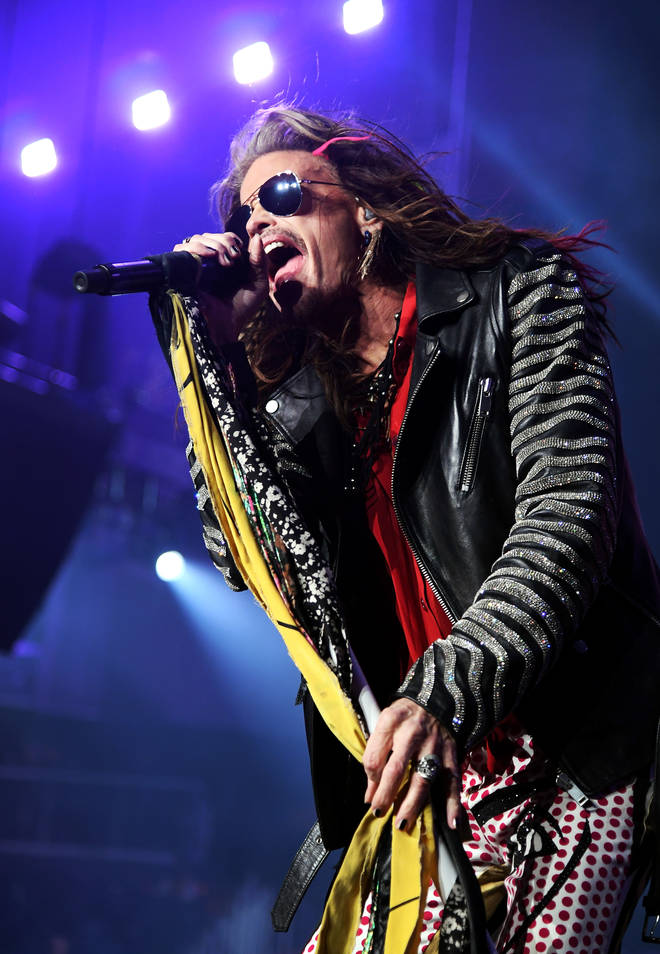 Steven Tyler of Aerosmith performs onstage during Day 2 of Bud Light Super Bowl Music Fest at State Farm Arena on February 1, 2019 in Atlanta