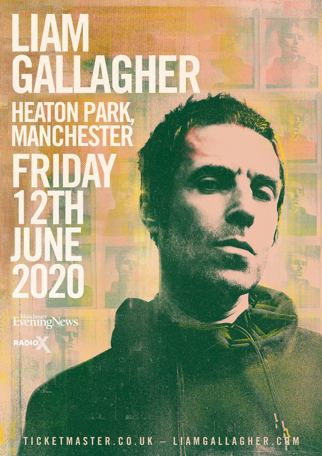 Liam Gallagher Heaton Park Manchester poster