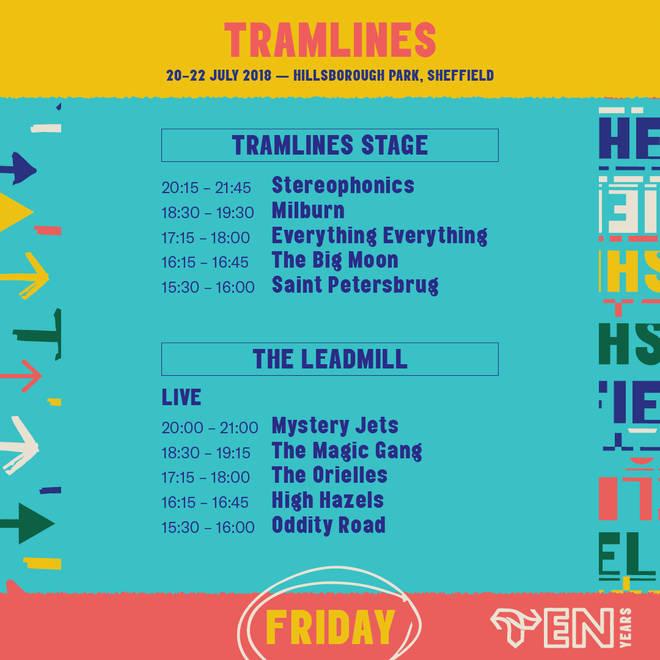 Tramlines Line-Up - Friday