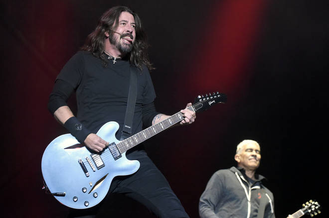 Dave Grohl and Pat Smear of Foo Fighters perform during the 2017 Voodoo Music Festival