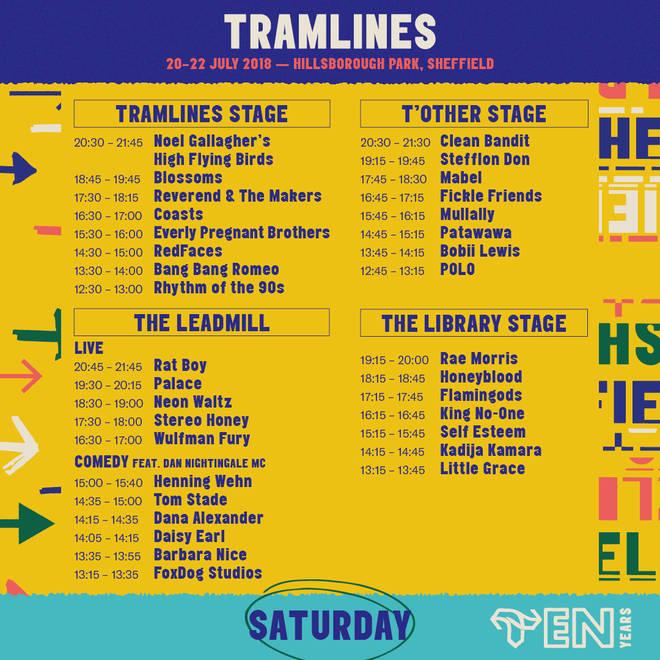 Tramlines Line-Up - Saturday