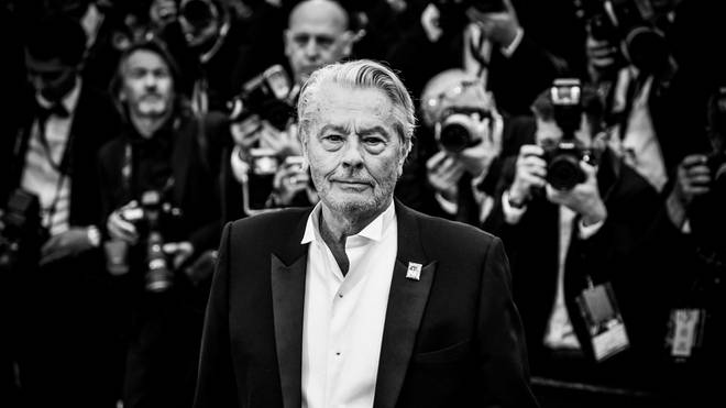 "Alain Delon attends the screening of ""A Hidden Life (Une Vie Cachée)"" during the 72nd annual Cannes Film Festival on May 19, 2019"