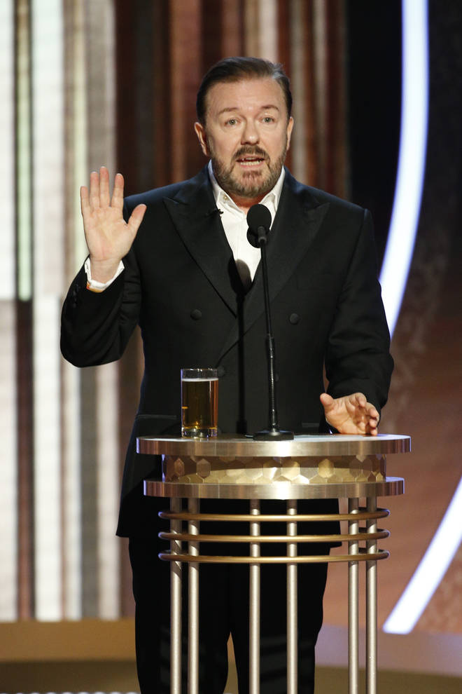 "Ricky Gervais at the 77th Annual Golden Globe Awards"" - Show"