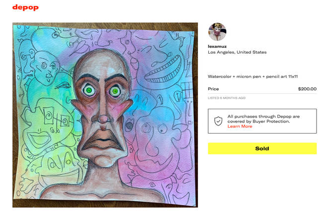 David Bowie's daughter's painting advertised on depop