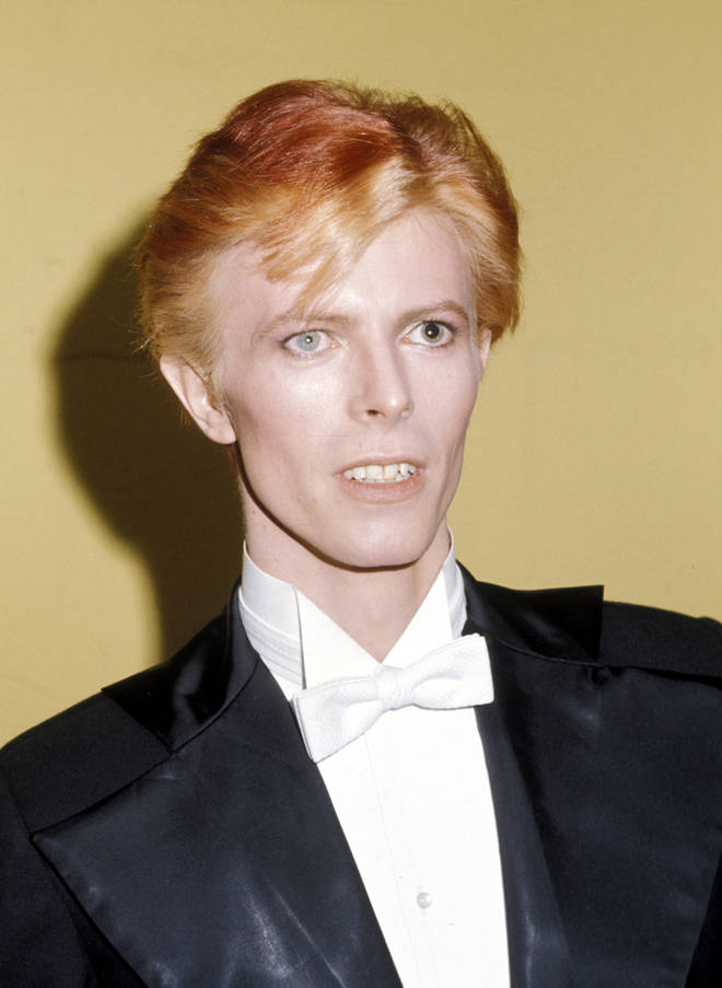 David Bowie at the Grammys in 1975