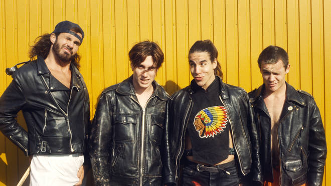 Red Hot Chili Peppers in 1990: Chad Smith, John Frusciante, Anthony Kiedis and Flea